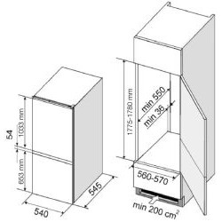 Dominox  DCB 320 NR A+ T Ankastre Buzdolabı