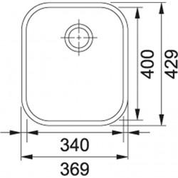 Franke Baccini AMX 110-34 Paslanmaz Çelik Evye