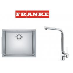 Franke Maris MRX 110-50 İnox Tezgah Altı Çelik Evye + Sirius Doccia Çelik Armatur Kampanyası