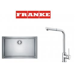Franke Maris MRX 110-70 İnox  Tezgah altı Çelik Evye + Sirius Doccia Spiralli Çelik Armatur Kampanyası