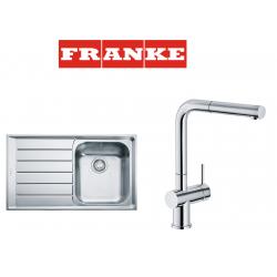 Franke Neptun NEX 611 İnox  Tezgah Üstü Sol Damlalıklı Çelik Evye + Active Plus Çelik Armatur Kampanyası