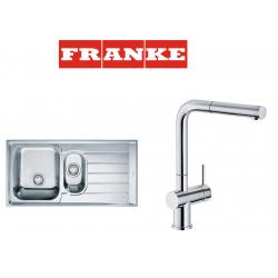 Franke Neptun NEX 651 İnox  1.5 Gözlü Paslanmaz Çelik Sağ Damlalık Evye + Active Plus Paslanmaz Çelik Armatur Kampanyası