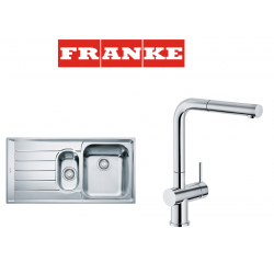 Franke Neptun NEX 651 İnox  1.5 Gözlü Paslanmaz Çelik Evye + Active Plus Paslanmaz Çelik Armatur Kampanyası