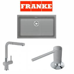 Franke Kubus KBG 110-70 Fragranite Stone Grey  + Active Plus Sonte Grey Armatur ve Sıvı Sabunluk Kampanyası
