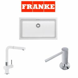 Franke Kubus KBG 110-70 Granit Bianco  + Active Plus Bianco Armatur ve Sıvı sabunluk Kampanyası