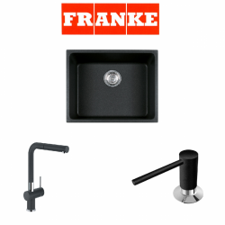 Franke Kubus KBG 110-50 Granit Nero  + Active Plus Nero Armatur ve Sıvı Sabunluk Kampanyası
