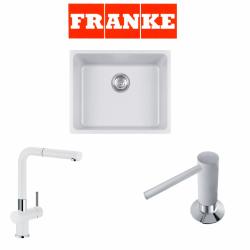 Franke Kubus KBG 110-50 Granit Bianco  + Active Plus Bianco Armatur ve Sıvı sabunluk Kampanyası