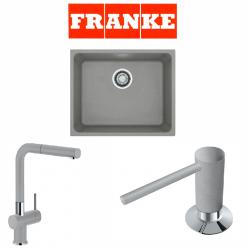 Franke Kubus KBG 110-50 Fragranite Stone Grey + Active Plus Stone Grey Armatur ve Sıvı Sabunluk Kampanyası
